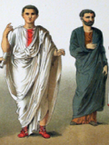 Illustration of Roman clothing