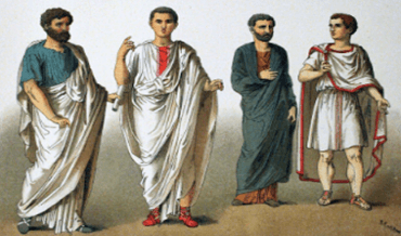 Clothing examples of the Romans