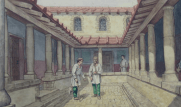 An illustration of a Roman hospital