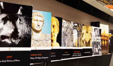 A selection of books by Roman authors