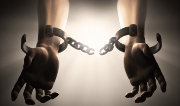 Slave shackles freedom