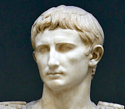 A statue of the Roman Emperor Augustus