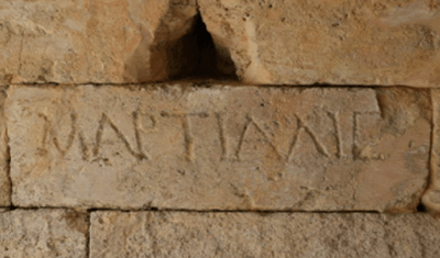 A Roman name carved into stone
