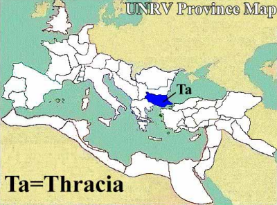 A map of the Roman province of Thracia