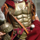 Lorica musculata muscled cuirass chest plate worn by a Roman officer
