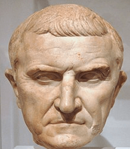 A bust of prominent Roman Marcus Licinius Crassus
