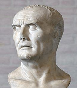 A bust of prominent Roman general Gaius Marius