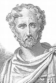 A sketch drawing of Pliny the Elder