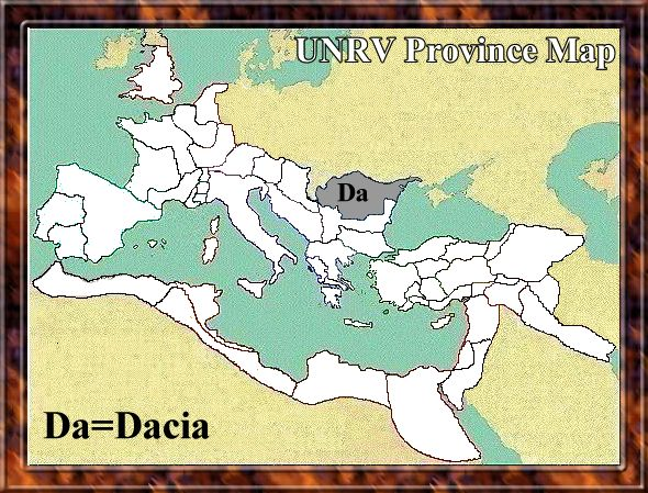 Map of Dacia