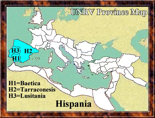 Map of Hispania
