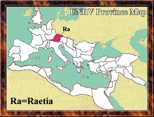 Map of Raetia