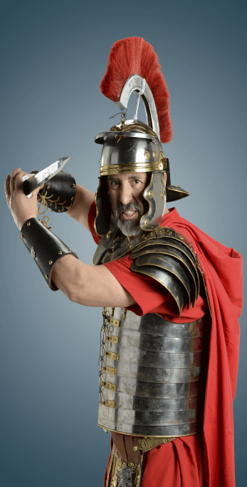 A Roman soldier wielding a gladius